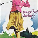 Vintage 1930s Golf..playing Golf in Germany by edsimoneit