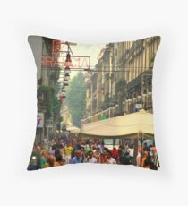 Crowded Torino Throw Pillow