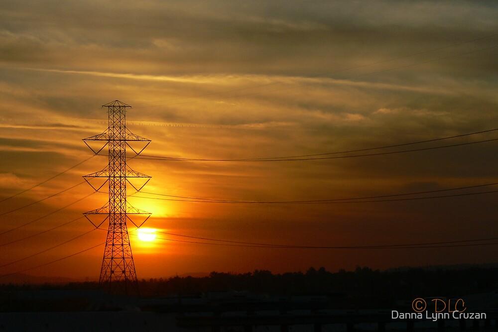 Power Line Sunset by Danna Lynn Cruzan