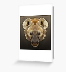 Topographic: Spotted Hyaena Greeting Card