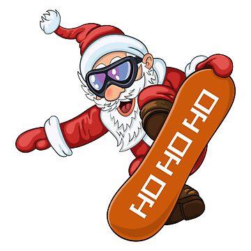 Snowboard Santa Claus by Kaylaya