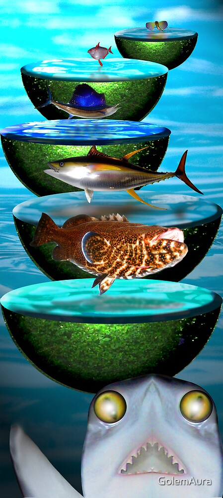 Fish on Water Drums by GolemAura