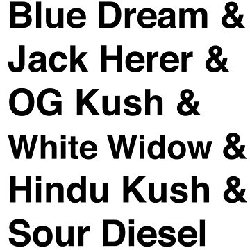 Cannabis Strains by howtoedibles