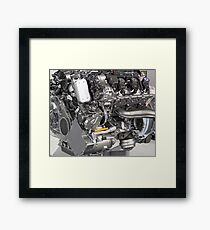 v6 car hybrid engine new technology Framed Print