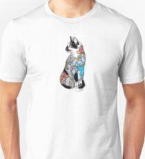 Camiseta unisex Gato de flores