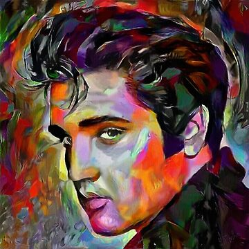 Rock me baby - Leah rock paintings - Elvis by LEAROCHE