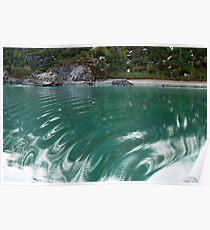 Rudder Shudder - Glacier Bay Alaska Poster