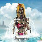 The Zombie Zodiac - Aquarius by thedarkcloak