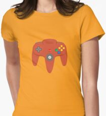 Nintendo 64 Controller (Red) Women's Fitted T-Shirt