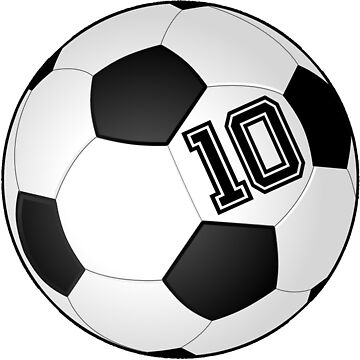Football Player Jersey No 10 Soccer Player Back Number #10 Ball Sport Sticker Gift by theshirtinator