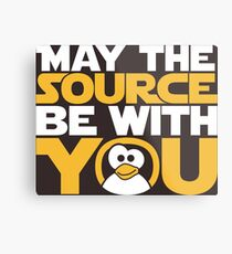 May The Source Be With You - Tux Edition Metal Print