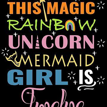Mermaid Unicorn Birthday 12 Girl Shirt by NoriTEEs