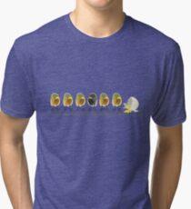 Two Scrambled Eggs - No more... Tri-blend T-Shirt