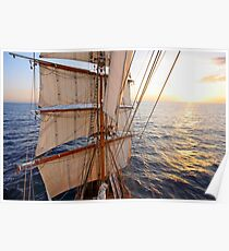 Sunset from the Mast Poster