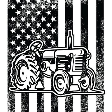 Tractor USA Flag Design  by kudostees