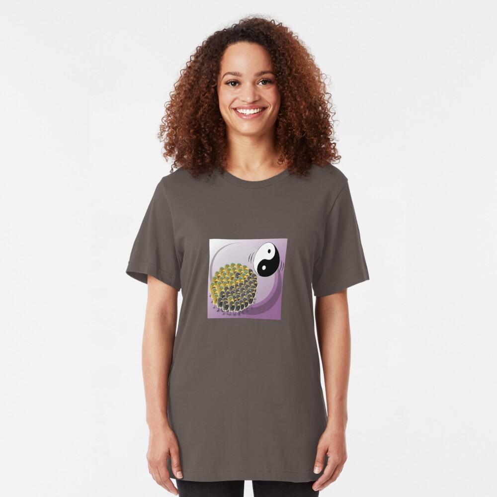 Two Scrambled Eggs - Yin-Yang Slim Fit T-Shirt