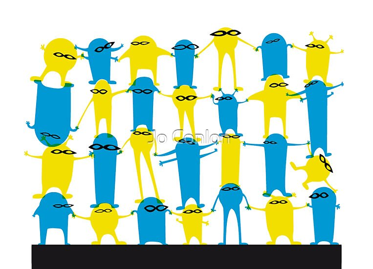 Blue + Yellow = by Jo Conlon