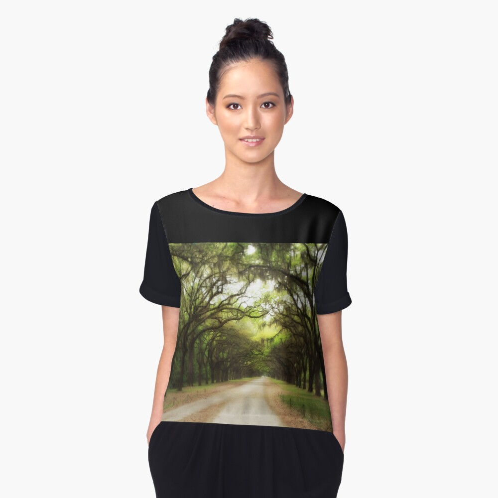 Plantation Road Women's Chiffon Top Front