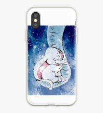 Dumbo and his mother, Mother and baby elephant iPhone Case