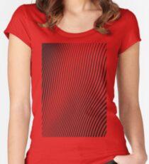 WAVE (BLACK) Camiseta entallada de cuello ancho