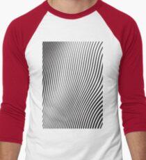 WAVE (BLACK) Camiseta ¾ estilo béisbol