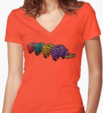 Zebrapotamus V.02 Women's Fitted V-Neck T-Shirt