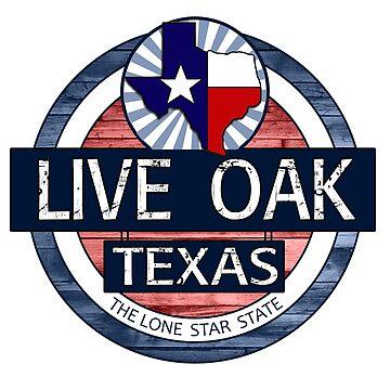 Live Oak Texas rustic wood circle by artisticattitud