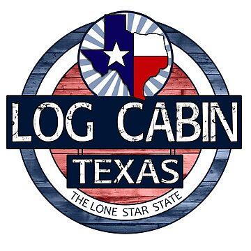 Log Cabin Texas rustic wood circle by artisticattitud