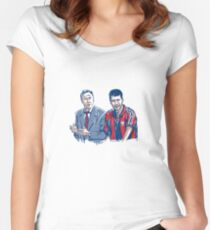 Cruyff and Guardiola, the witness passage Women's Fitted Scoop T-Shirt