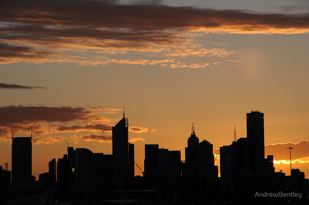 Melbourne sunrise by AndrewBentley