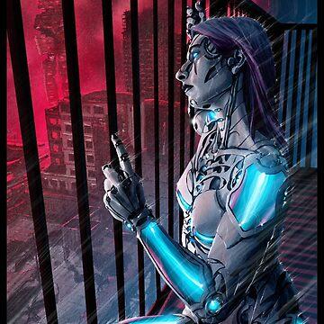 Cyberpunk Painting 093 by Sokoliwski