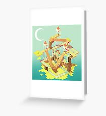 Puzzle Fortress Greeting Card