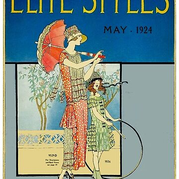 ELITE STYLES : Vintage 1924 Magazine by Vogue Advertising Print by posterbobs