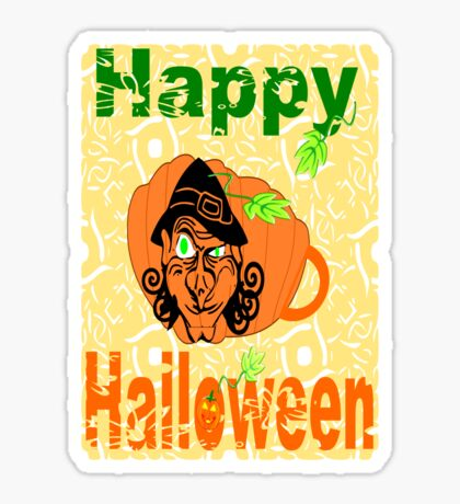 Halloween Card :Pumpkin Shape Mug (6690  Views) Sticker