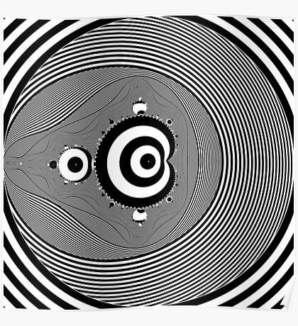 Monochrome Mandelbrot Poster