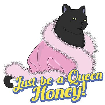 Just Be a Queen,Honey! Quote Salem Black Cat Pink Fluffy Nightgown by TotalTeeGeek
