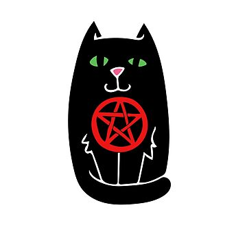 Pentagram Witchy Black Cat by Boogiemonst