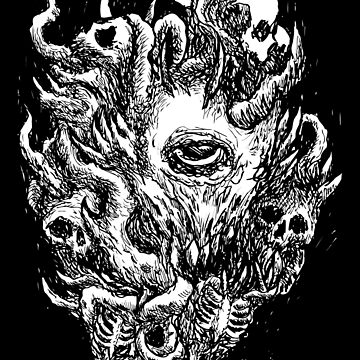 Brutal Monster,  Satanic Shirt, Satan Occult, Death Metal, Metal Head, Rock Band, Hard Rock, Heavy Metal by kraftd