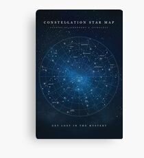 Constellation Star Map Canvas Print