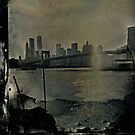 Manhattan Skyline Tintype by ShellyKay