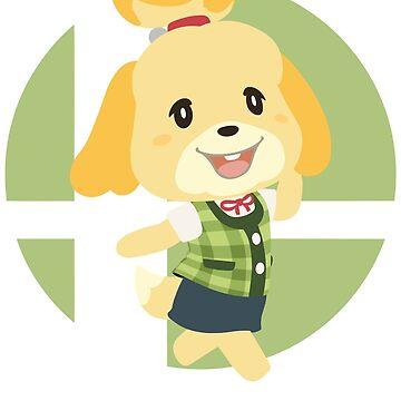 Isabelle - Super Smash Bros. Ultimate by PrincessCatanna