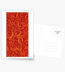 Pumpkin Patch Tentacles Postcards