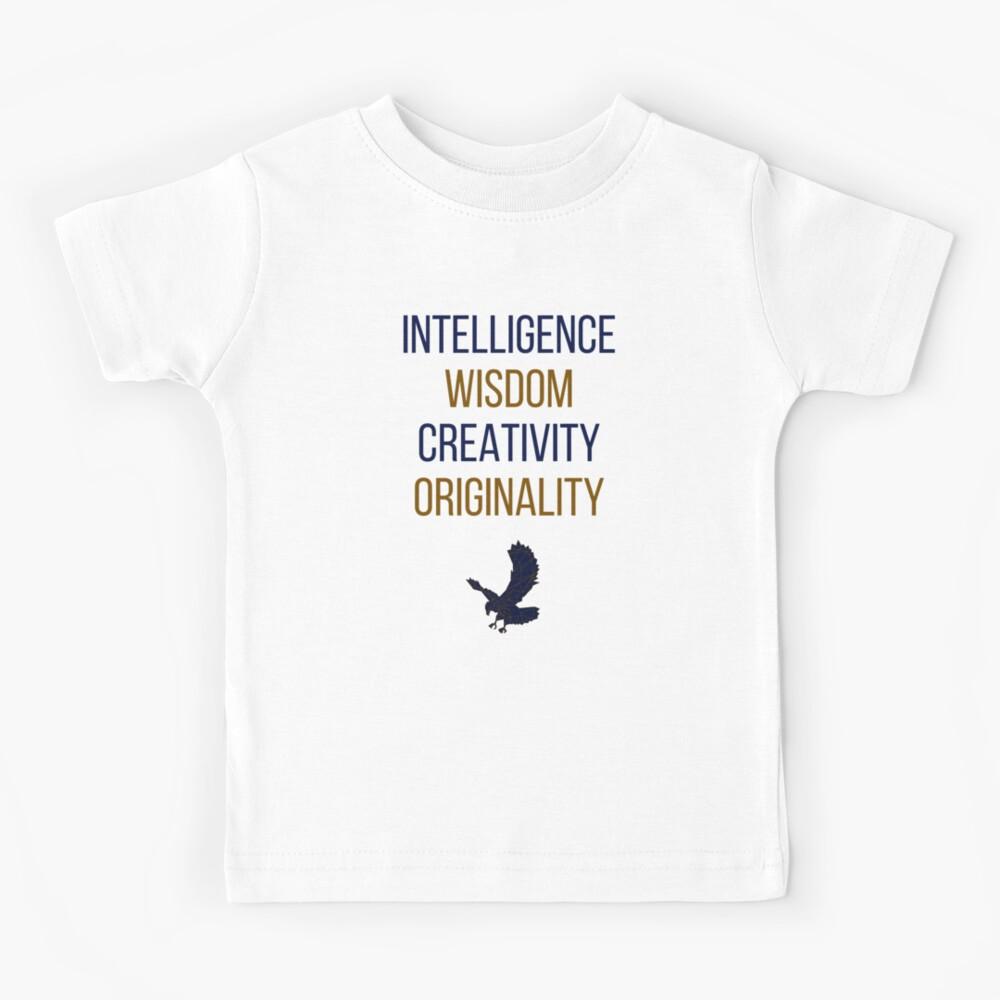 Blaue Wörter Kinder T-Shirt