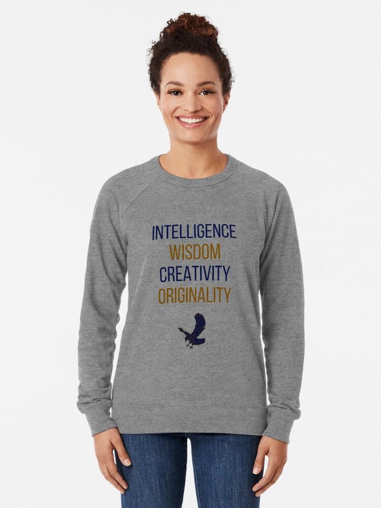 Alternative Ansicht von Blaue Wörter Leichter Pullover