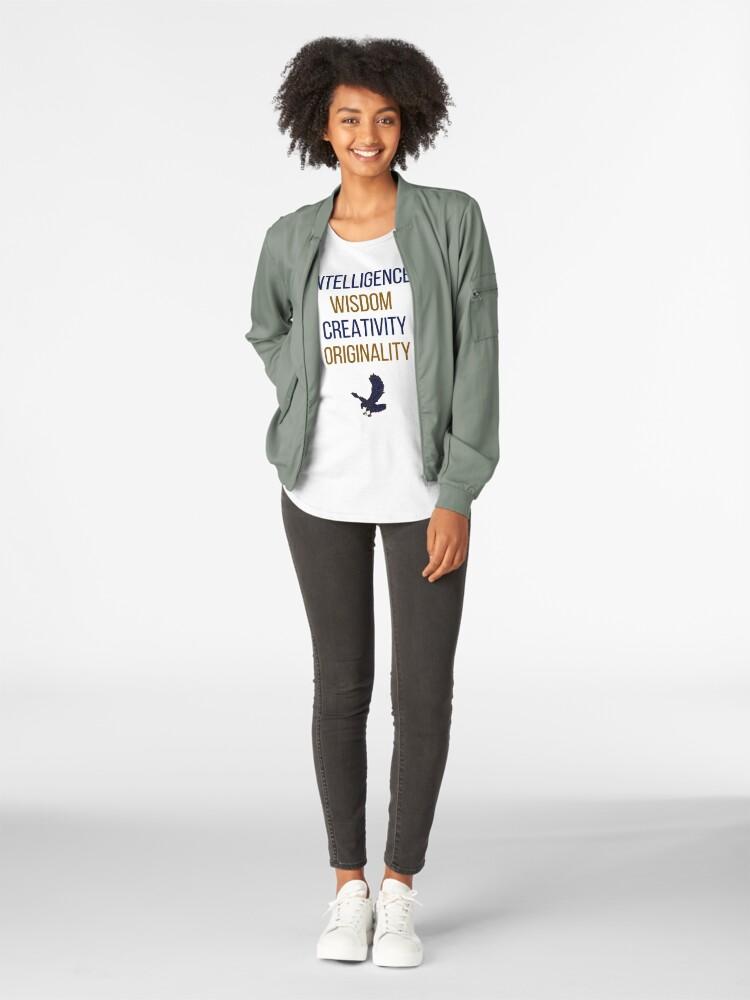 Alternative Ansicht von Blaue Wörter Premium Rundhals-Shirt