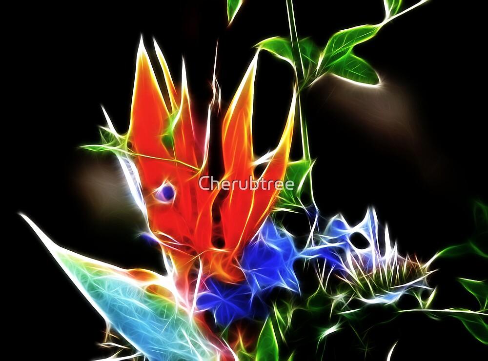 Halloween Bird of Paradise: by Cherubtree