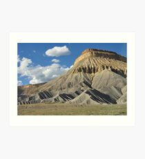 Erosion Cliff Art Print