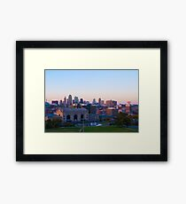 The Kansas City Landscape Framed Print