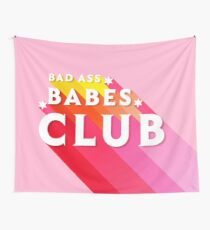 Babes Club- pink typography Wall Tapestry