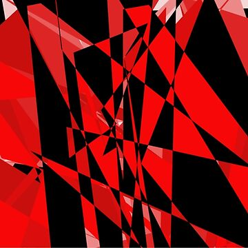 Red and black  abstract  by JohnyZero